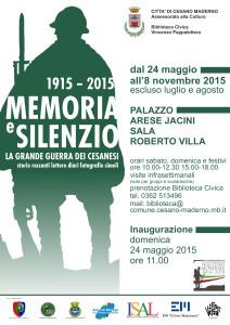 069-140514 locandina Memoria e silenzio