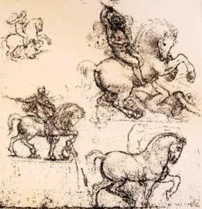 studi-di-leonardo-sul-progetto-relativo-al-monumento-equestre-di-francesco-sforza