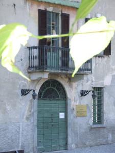 L'ingresso del Civico Museo Setificio Monti ad Abbadia Lariana