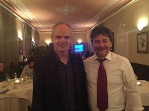 Sergio Melluso con il presidente degli chef europei Enrico Derflingher