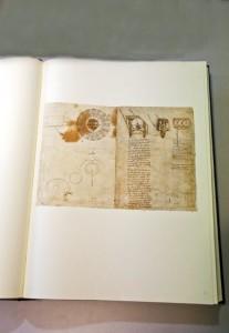La copia anastatica del Codice Atlantico esposta a Palazzo Ghirlanda a Brugherio (foto Melina)