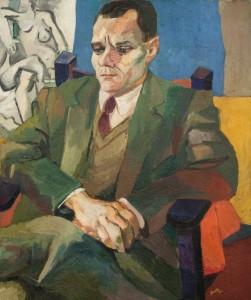 Renato Guttuso, ritratto di Alberto Moravia