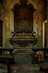 Cernusco sul Naviglio Cappella Villa Alari pala d'altare