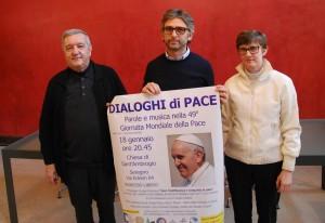 Monsignor Bruno Molinari, il Sindaco Edoardo Mazza e Paola Visconti (consiglieri comunale Comune Barlassina)