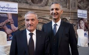 Giovanni Barzaghi e Paolo Ferrario, rispettivamente Presidente e Segretario Generale di APA Confartigianato Imprese Milano e MB