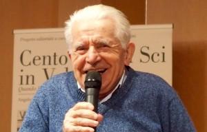 Antonio Gianola, dall'alto delle sue 87 primavere, la voglia di esserci sempre alla partenza di una gara