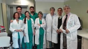 L'equipe di medicina dell'Ospedale di Vimercate coordinata dal nuovo primario dottor Vighi (primo a destra)