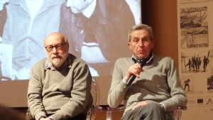 Pierfranco Invernizzi al microfono con Michele Corti