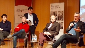 Al microfono Domenico Flavio Ronzoni