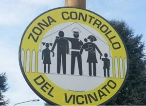 Controlli del vicinato cartello