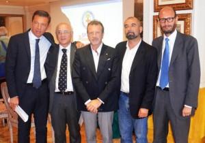 Da sinistra a destra: Dell'Orto, Radaelli, Coldani, Capelli, Meda