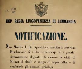 200 anni di Monza. Il sigillo della Città