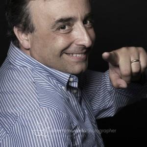 Alberto Moioli in una simpatica immagine del fotografo Alberto Manzella