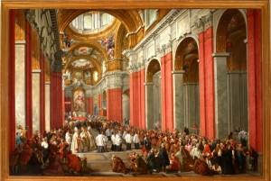 Como Pinacoteca civica Consacrazione del cardinale Pozzobonelli di Giovanni Paolo Panini