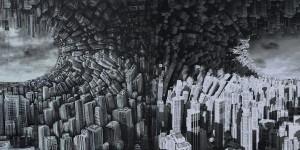 Fabio Giampietro Metromorfosi, l'onda, 1000cmx300cm, olio su tela, 2015 16