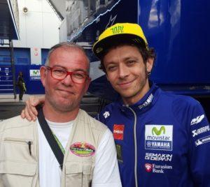 Fabrizio Ciceri, neo presidente USSMB, con Valentino Rossi a Jerez