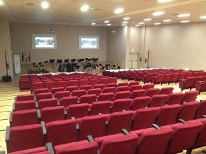 Il nuovo auditorium per 350 posti all'interno della nuova palazzina di 25mila mq