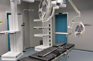 Una delle nuove sale operatorie in allestimento nella nuova palazzina dell'Ospedale San Gerardo di Monza