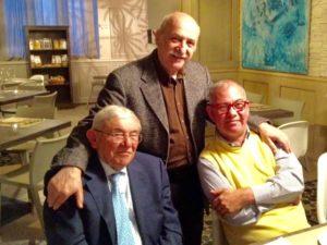 Pietro Mazzo e Fabrizio Ciceri con Gianmaria Italia