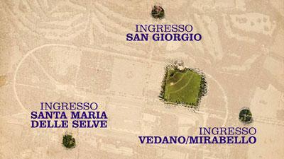 Mappa ingressi Autodromo per il concerto di Ligabue