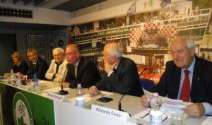 Festival dello Sport USSMB il Presidente Ciceri al microfono