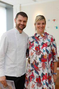 Starting Grid Diana Da Ros con lo chef Enrico Bartolini