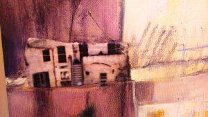 """""""Paesaggio Verticale"""" di Elena Pagani - Particolare collage - Foto di Elizabeth Gaeta"""