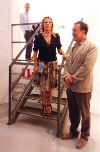 Elena Pagani con Gianni Maimeri, presidente Fondazione Maimeri