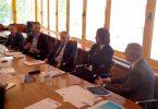 I vertici della BCC Lesmo e di APA Confartigianato Imprese MB alla presentazione dell'accordo per l'accesso al credito