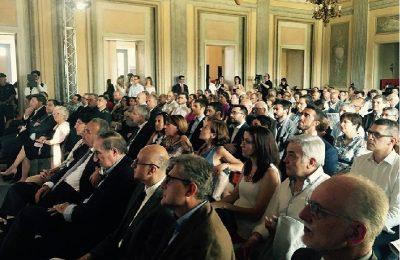 La folta platea del Premio Brianza Economica nel Salone d'Onore della Villa Reale di Monza