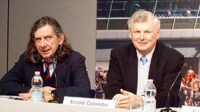 Ercole Colombo e Giorgio Terruzzi, autori della bella mostra dedicata al mito di Ayrton Senna