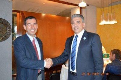 Lions Club Vimercate, il presidente Chetta con il Sindaco Sartini