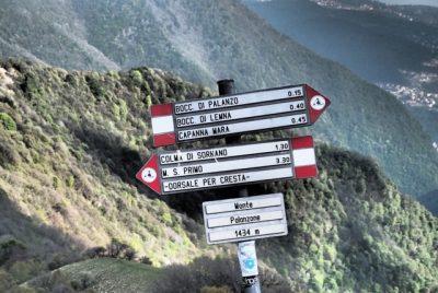 Monte Palanzone segnaletica sentieri
