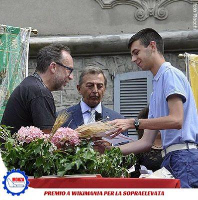 A Wikimania di Esimo Lario premio per la Sopraelevata al giovane Marco del Badoni di Lecco