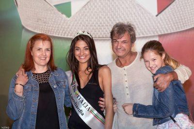 Martina Motta con la sua famiglia