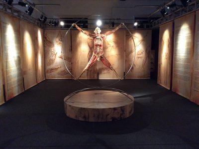 Esposizione Real Bodies - una sala espositiva presso lo Spazio Ventura di Lambrate