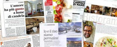 Giancarlo Morelli ristorante Pomiroeu rassegna stampa