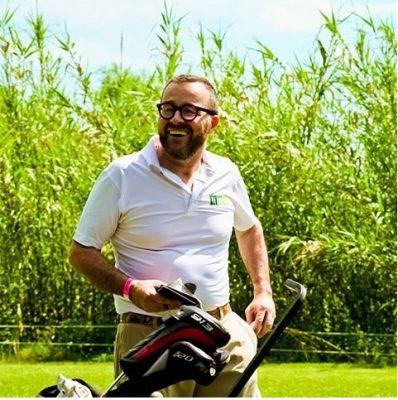 Giancarlo Morelli sul campo di golf