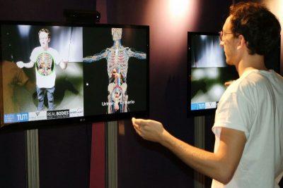 La macchina di ultima tecnologia presente a Real Bodies in grado di mostrare l'interno del nostro corpo