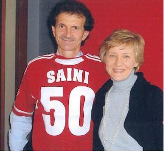 Marinella Farina con Fulvio Saini