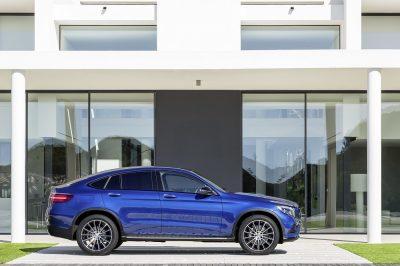 Mercedes-Benz GLC Coupé, brilliantblau ; Mercedes-Benz GLC Coupé, brilliant blue;