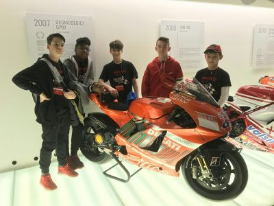 Ducati Monza Racing Junior Team visita Ducati