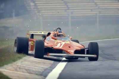 Gilles Villeneuve in controsterzo Ercole Colombo