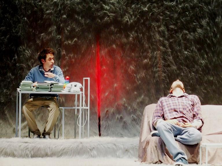 """Francesco Brandi e Sebastiano Bottari in """"Buon anno ragazzi"""" di Francesco Brandi e Raphael Tobia Volger - foto di Elizabeth Gaeta"""
