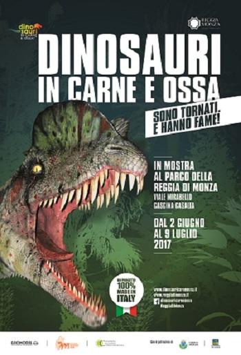 Dinosauri mostra parco locandina