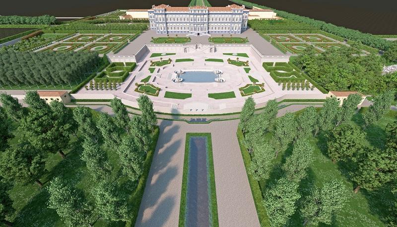 Reggia di Monza giardini Ferdinando 3