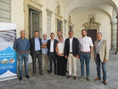 Foto di gruppo alla presentazione del progetto BrianzaStream di Brianzacque