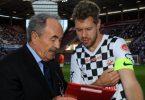 Il Presidente della Nazionale Piloti con Sebastian Vettel