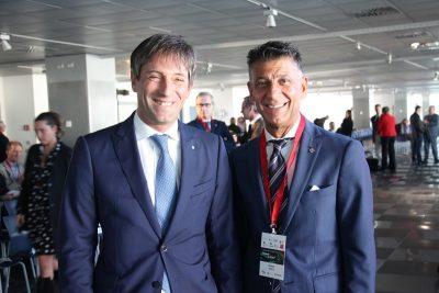 Da sinistra nella foto: il Vicepresidente della Regione Lombardia Fabrizio Sala con il Presidente Anaci MB Renato Greca