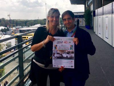 Paola Bencini con il vice Presidente AC Milano Geronimo La Russa